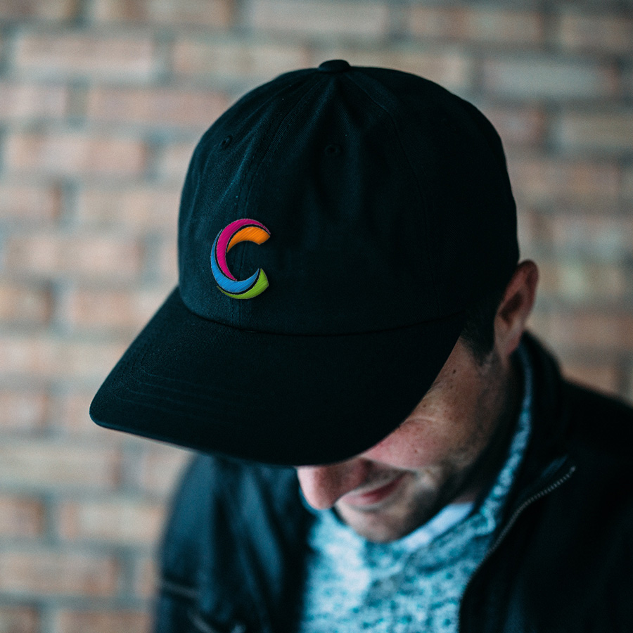 casquette, patch, broderie
